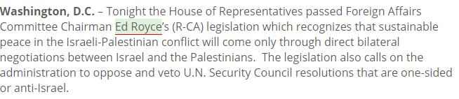 Résolution Congres américain