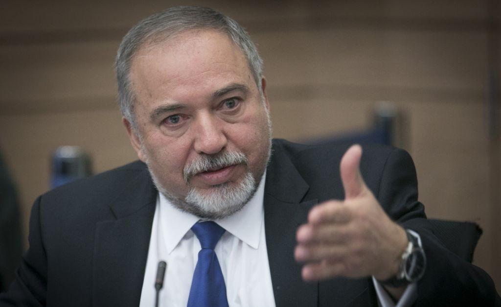 Le ministre de la Défense, Avigdor Liberman, lors d'une réunion de la commission des finances du Knesset le mardi 6 décembre 2016