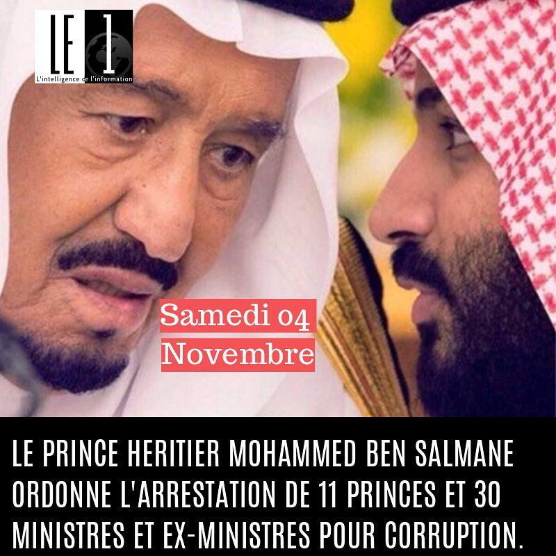 Samedi 4 Novembre  Le prince hritier MBS donne lehellip
