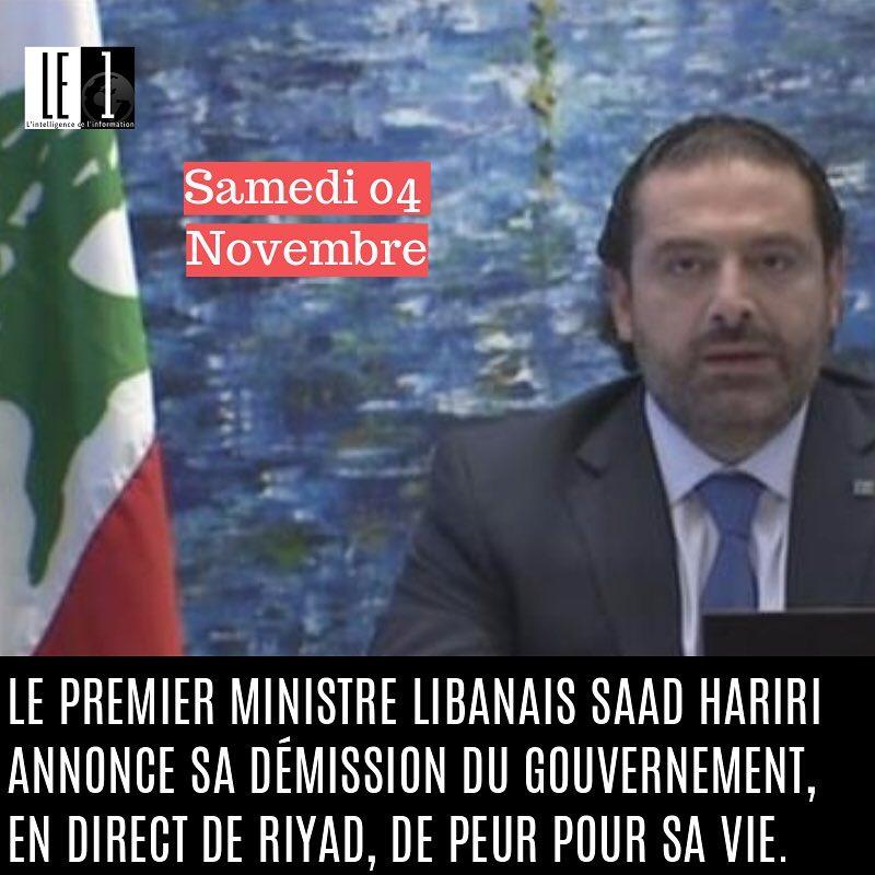 Samedi 4 Novembre 2017  Le premier ministre libanais saadharirihellip