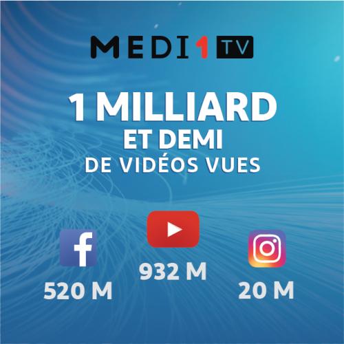 Medi1 TV : 1 milliard et demi de vidéos vues, un record!